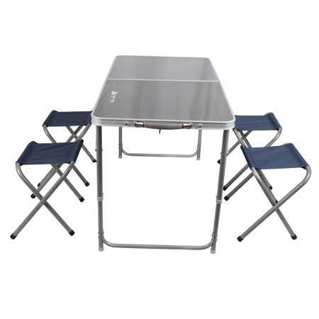 Ozark Trail Durable Steel and Aluminum Table Set with (Aluminum Table)