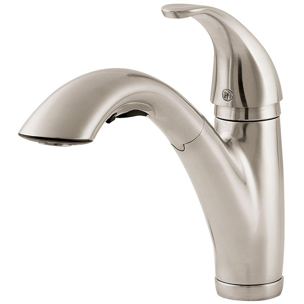 Pfister Parisa Pullout Spray 1 3 Kitchen Faucet LG534-7SS Stainless Steel by