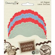 Trimcraft Curiosity Corner Paper Doilies, Assorted Colors Multi-Colored