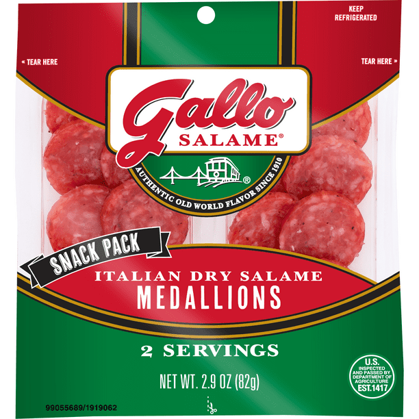 Gallo® Salame Italian Dry Snack Medallions Deli Lunch Meat ...