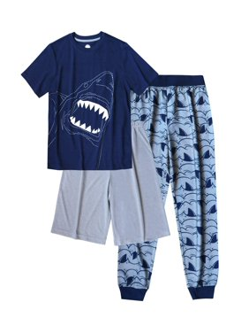 Wonder Nation Boy's 3 Piece Pajama Sleep Set