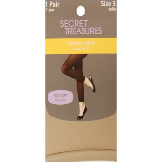 100cf826daec2 Secret Treasures - Control Top Footless Tights - Walmart.com
