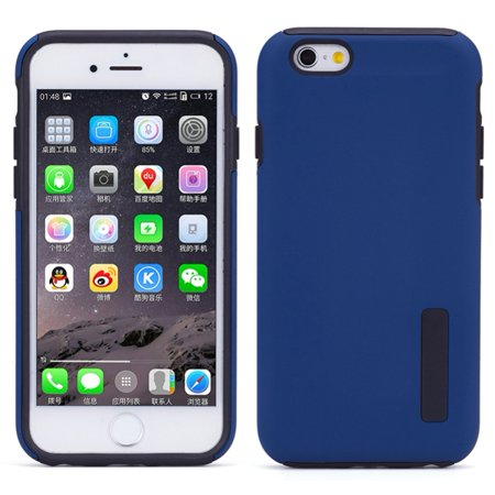 iPhone 6S 6 Blue Drop-proof Hybrid Case Dual Layer Armor Cover Protective Skin w Drop Protection
