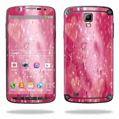 Mightyskins Protective Vinyl Skin Decal Cover for Samsung Galaxy S4 Active I9295 wrap sticker skins Pink Diamonds