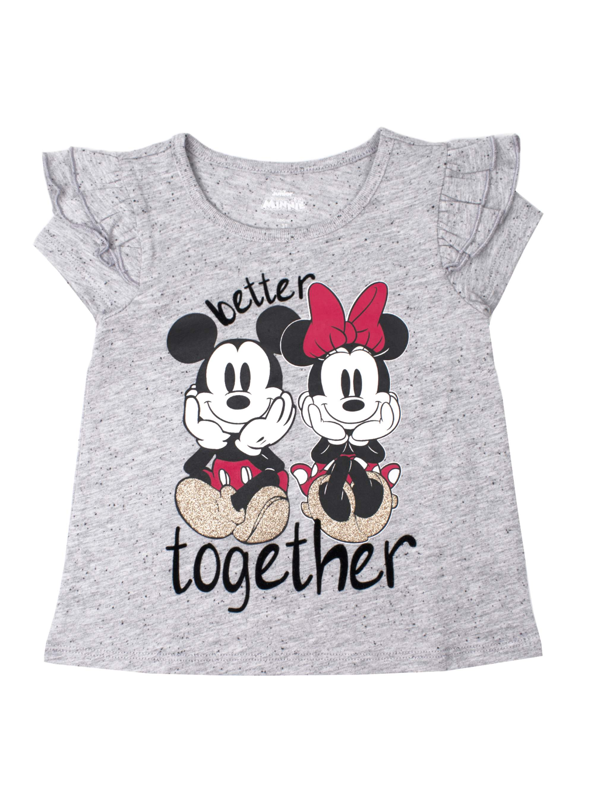 Ruffle Sleeve T-Shirt (Toddler Girls)