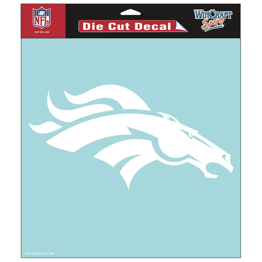 Denver Broncos Official NFL 8 inch x 8 inch  Die Cut Car Decal by Wincraft