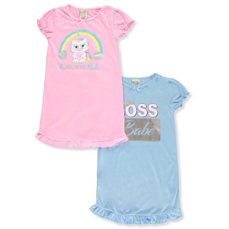 Sweet N Sassy Girls' 2-Pack Nightgowns - Nightgown Girl