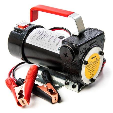 12v Fuel Transfer Pump 10 GMP w/ Suction Hose and Fuel Pump Nozzle - Diesel  Fuel, Biodiesel, Kerosene, Light Fuel Oils