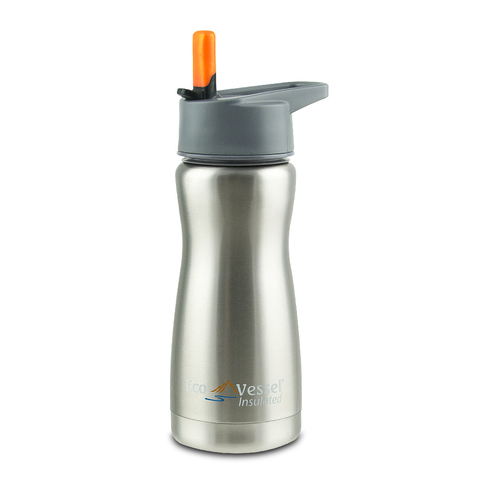 Frost Kids 13oz Stainless Steel Insulated Water Bottle with Straw Top