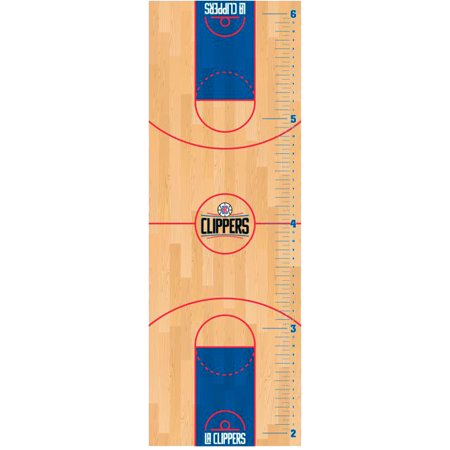 LA Clippers Fathead Basketball Court Large Removable Growth Chart - No Size
