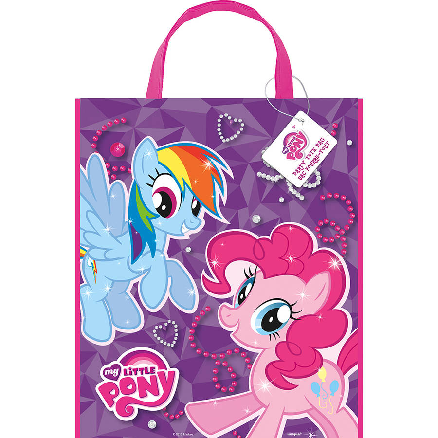 Large Plastic My Little Pony Goodie Bags, 13 x 11 in, 12ct