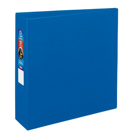 avery 3 heavy duty binder one touch rings durahinge blue 79883
