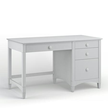 Bolton Pedestal Desk Four Drawers Gray