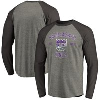 Sacramento Kings Fanatics Branded Heritage Long Sleeve Raglan T-Shirt - Heathered Gray