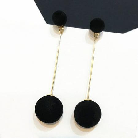 KABOER Women Lady Ball Double-sided Earrings Long Dangle Jewelry Charm Decor Trendy Ball Dangle Earrings Jewelry