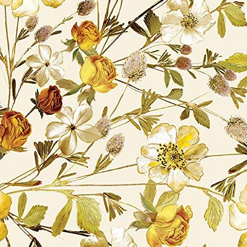 Natural Beauty~Wildflowers Cream 8661M-07~Cotton Fabric by Benartex