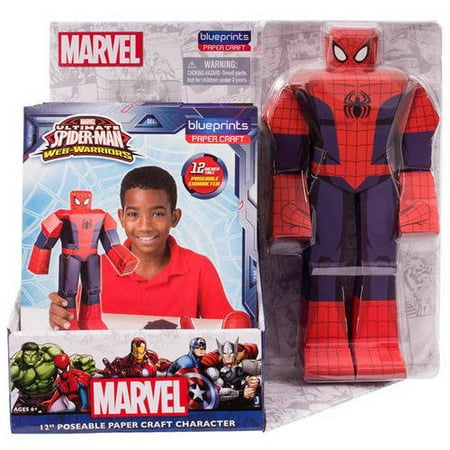 Spiderman blueprint papercraft 12 inch figure walmart spiderman blueprint papercraft 12 inch figure malvernweather Images