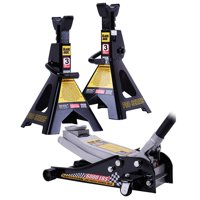 Torin 3 Ton Bundle with 2 Stands and Low Pro Jack