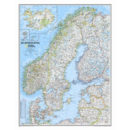 National Geographic Maps Scandinavia Classic Wall Map