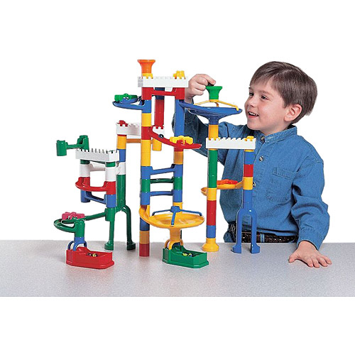 Marvel Education Company Marble Run Kit with 12 Marbles, 68-Piece