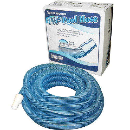 "Haviland 24' x 1-1/4"" Vac Hose for Above-Ground Pools, Blue"