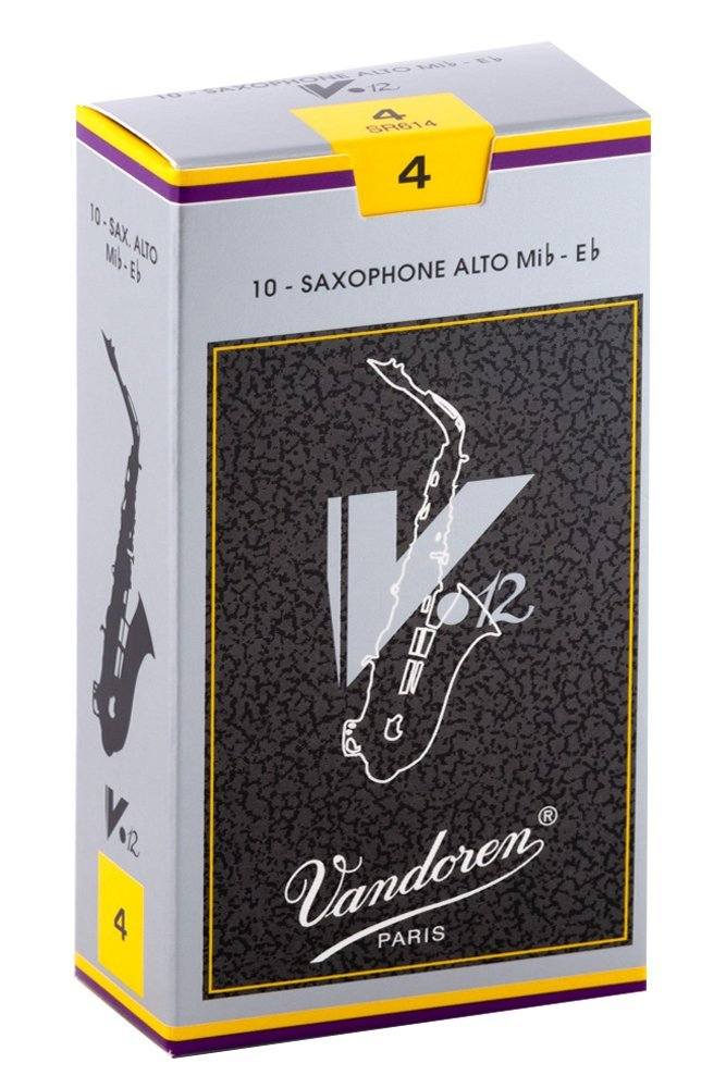 10 Pack of Vandoren 4 Alto Saxophone V12 Reeds by Vandoren