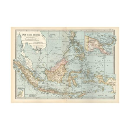 Map of East India Islands. Malaysia and Melanesia. Dutch East India Print Wall Art By Encyclopaedia Britannica