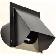 Master Flow WVA4BL Round Wall Vent, 4 in Duct