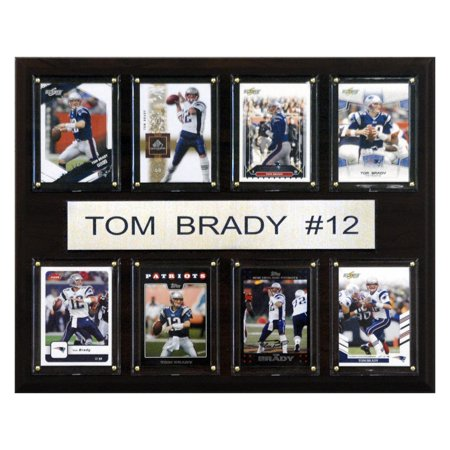 C Collectables Nfl 12X15 Tom Brady New England Patriots 8 Card Plaque