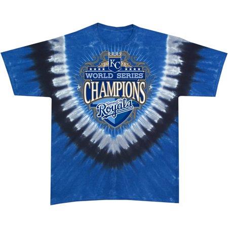 Kansas City Royals 2015 World Series Champions Shield Tie-Dye T-Shirt - Multi