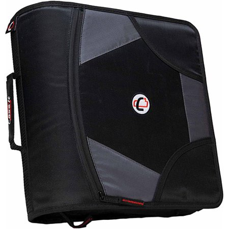 case it 4 inch king sized zipper binder with 5 tab file folder