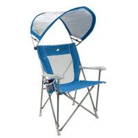 GCI Waterside SunShade Captain's Chair, Saybrook Blue