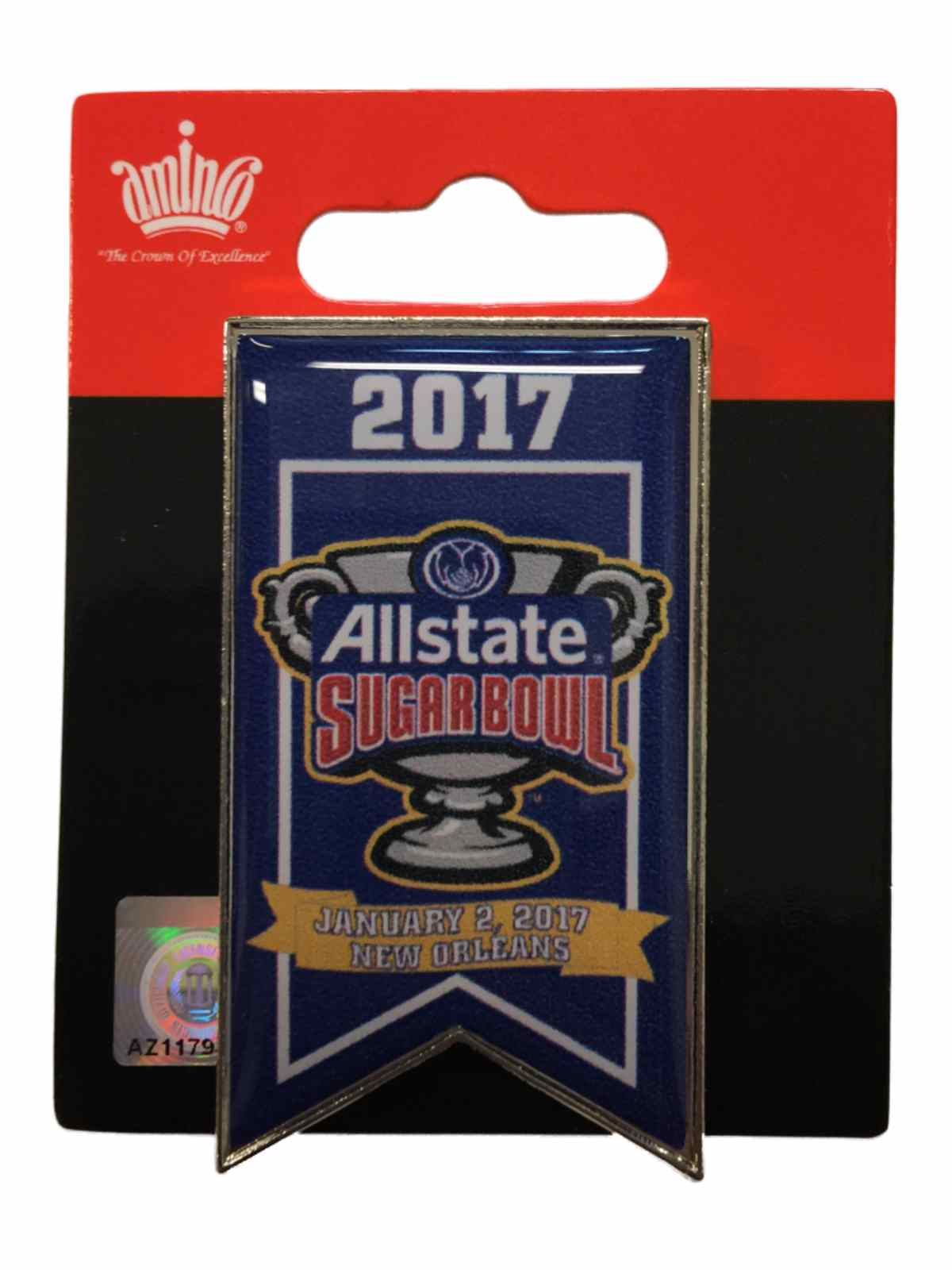 Auburn Tigers Oklahoma Sooners 2017 Sugar Bowl Game Banner Collectible Metal Pin by Aminco