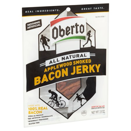 (2 Pack) Oberto All Natural Applewood Smoked Bacon Jerky 2.5 oz.
