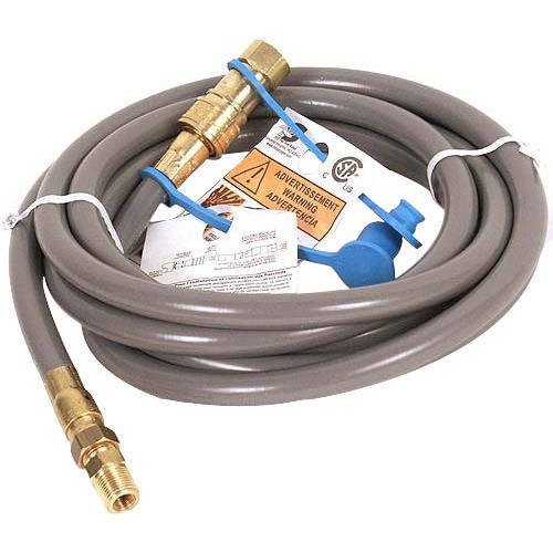 12' Natural Gas Hose with Quick Connect