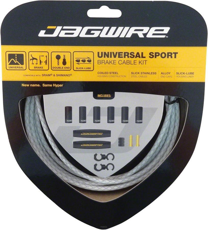 Jagwire Universal Sport Brake Cable Kit, Braided White