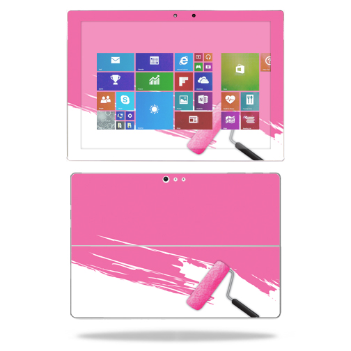 MightySkins Protective Vinyl Skin Decal for Microsoft Surface Pro 4 case wrap cover sticker skins Pink Paint Roller