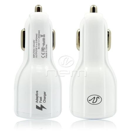For LG Nexus 5X Dual USB Quick Fast Car Charger w/ 4 Feet USB-C Data Sync Cable White - image 9 of 9