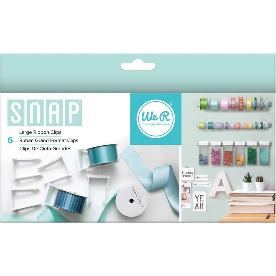 Snap Storage Ribbon Clips, 6pk