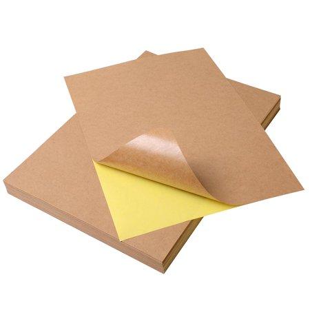 Yescom A4 Blank Kraft Label Sticker Printable Self Adhesive Paper for Inkjet or Laser Printer (pack of 100)