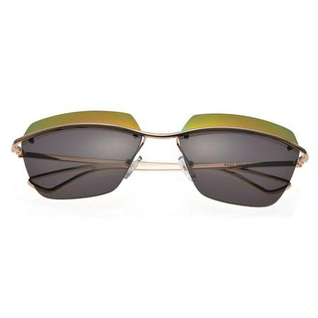 KroO Mens / Womens / Unisex - Two Tone Frameless Sunglasses