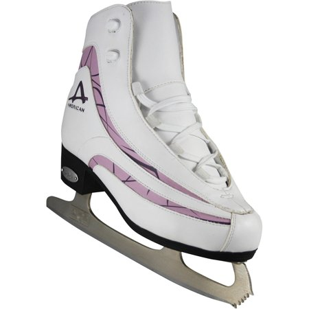 - American Athletic Women's Soft Boot Ice Skates with Plum Trim