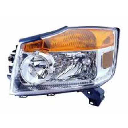 Go-Parts OE Replacement for 2008 - 2012 Nissan Armada Front Headlight Assembly Housing / Lens / Cover - Left (Driver) 26060-9GA0B NI2502175 Replacement For Nissan Armada 2008 Nissan Armada Replacement