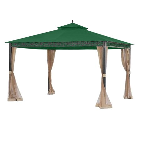Garden Winds Replacement Canopy Top Cover for the Smith and Hawken Allogio Gazebo - Green ()