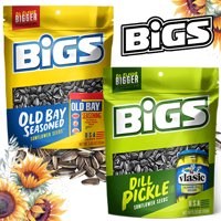 Bigs Sunflower Seeds - Dill Pickle and Old Bay Seasoning - 2-Pack - 5.25 OZ Bags
