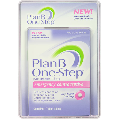 (2 Pack) Plan B One-Step Levonorgestrel 1.5 Mg Emergency Contraceptive  Tablet - 1 Ea - Walmart.com