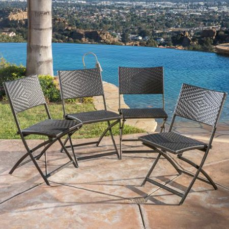Sigfried Multi Brown Wicker Dining Chairs Set Of 4
