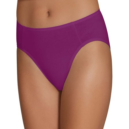 3 Cotton Lycra High Cut (Women's Cotton Stretch Hi-Cut Panties, 6)