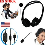 USB Noise Cancelling Microphone Headset Call Centre Office Telephone Corded 1pc