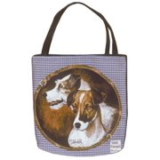 "Jack Russell Terrier Dog Shopping Tote Bag 17"" x 17"""